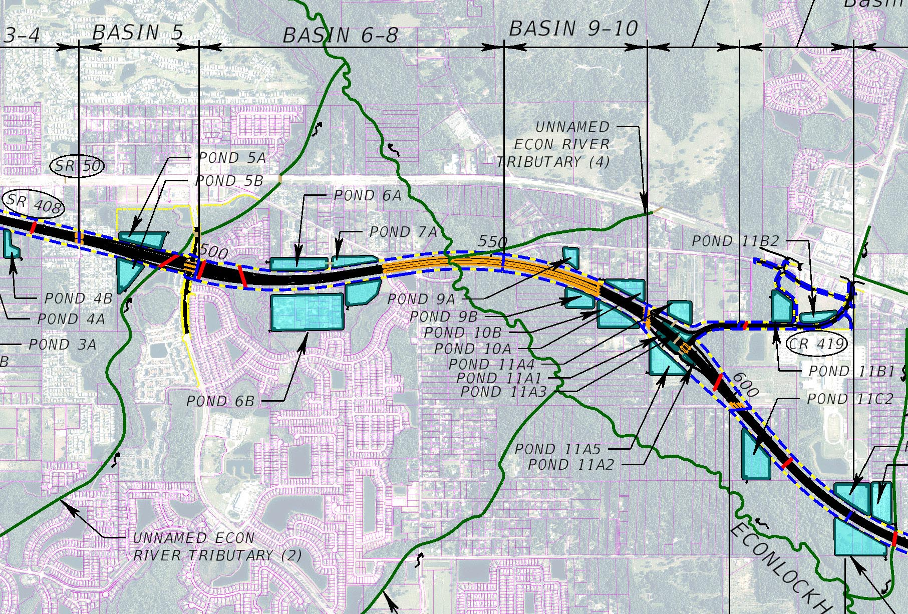 SR 408 PD&E Study for CFX- Orange County, Florida